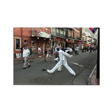 Streetwalker in White Rectangle Magnet
