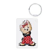 Valentine Yorkie Girl Keychains