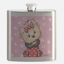 Valentine Yorkie Girl Flask
