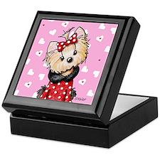 Valentine Yorkie Girl Keepsake Box