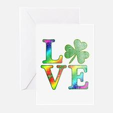 Irish Love Rainbow Color Greeting Cards (Pk of 10)