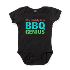 daddy bbq Baby Bodysuit