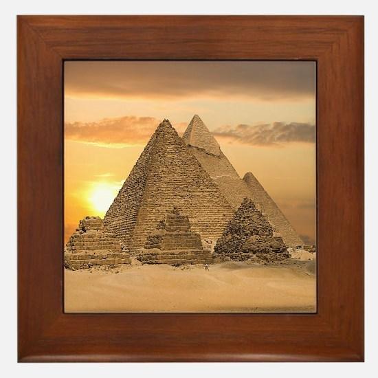 Giza Pyramids Framed Tile