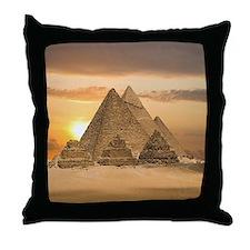 Giza Pyramids Throw Pillow