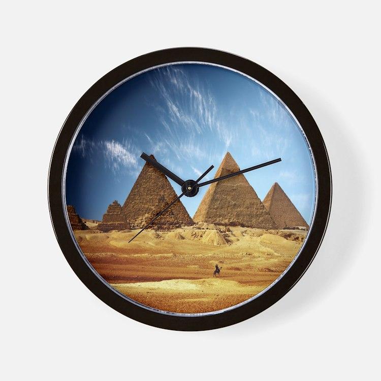 Giza Pyramids Wall Clock