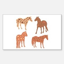 Four spring horses Decal