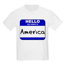 hello my name is america T-Shirt