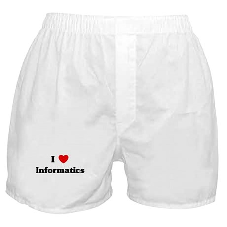 I Love Informatics Boxer Shorts