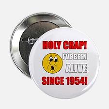 "1954 Holy Crap 2.25"" Button"