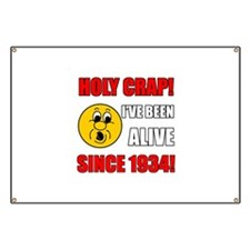 1934 Holy Crap Banner
