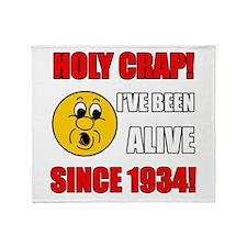 1934 Holy Crap Throw Blanket