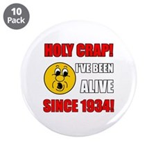 """1934 Holy Crap 3.5"""" Button (10 pack)"""