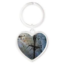 Night Spark Heart Keychain