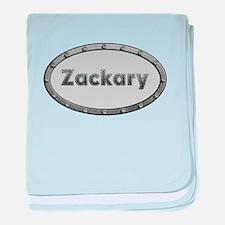 Zackary Metal Oval baby blanket