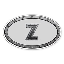 Z Metal Oval Decal