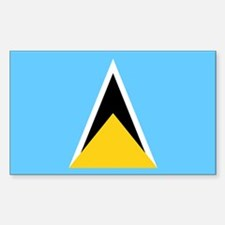 Saint Lucia Flag Stickers