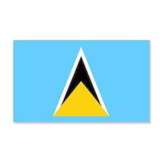 Saint Lucia Flag Wall  Decal Sticker