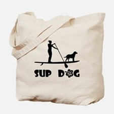 SUP Dog Standing Tote Bag