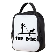 SUP Dog Standing Neoprene Lunch Bag