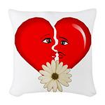heart break Woven Throw Pillow