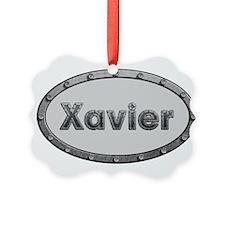 Xavier Metal Oval Ornament