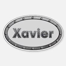 Xavier Metal Oval Decal