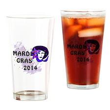 Mardi Gras 2014 Drinking Glass