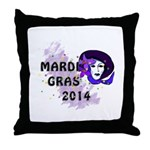 Mardi Gras 2014 Throw Pillow