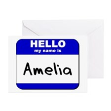 hello my name is amelia  Greeting Cards (Package o