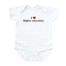 I Love Higher education Infant Bodysuit