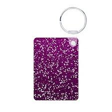Glittery Pink Glitters Sparkles Keychains