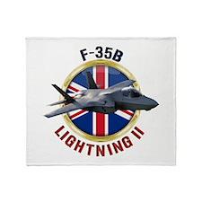 RAF F-35B Lightning II Throw Blanket