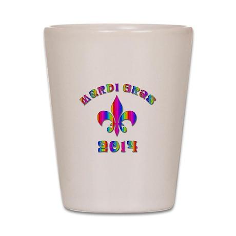 Mardi Gras New Orleans Shot Glass