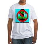 No Haters Love Thy Neighbor Fitted T-Shirt