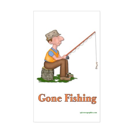 Father's Day Fisherman Rectangle Sticker