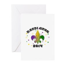 Mardi Gras 2014 Greeting Cards (Pk of 10)