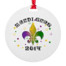 Mardi Gras 2014 Round Ornament