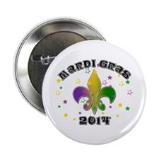 "Mardi Gras 2014 2.25"" Button"