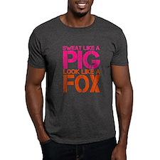 Sweat Like a Pig, Look Like a Fox T-Shirt