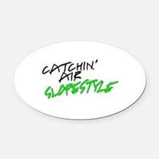 Catchin' Air Slopestyle Oval Car Magnet
