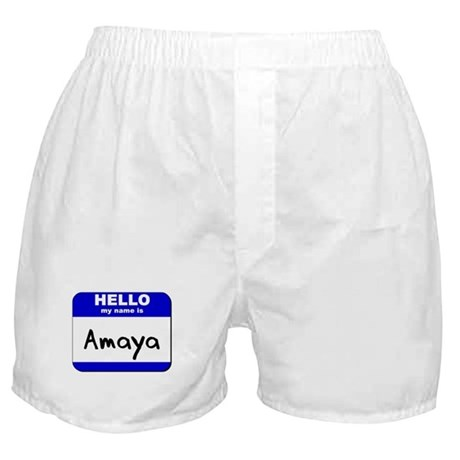 hello my name is amaya Boxer Shorts
