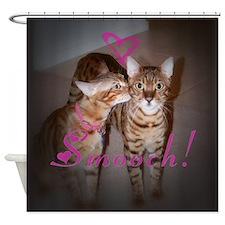 Kitty Smooch Shower Curtain