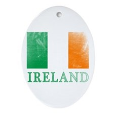 IRELAND Distressed Flag Ornament (Oval)