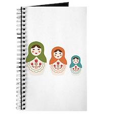 Matryoshka Russian Dolls Journal