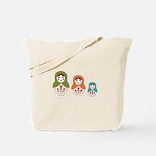 Matryoshka Russian Dolls Tote Bag