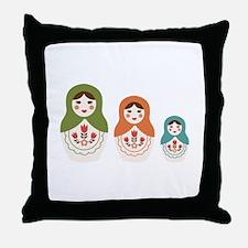 Matryoshka Russian Dolls Throw Pillow