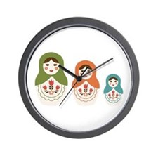 Matryoshka Russian Dolls Wall Clock