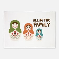 ALL IN THE FAMILY 5'x7'Area Rug