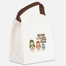 WELCOME TO THE DOLL HOUSE Canvas Lunch Bag