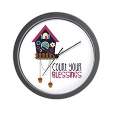 Count Your Blessincs Wall Clock